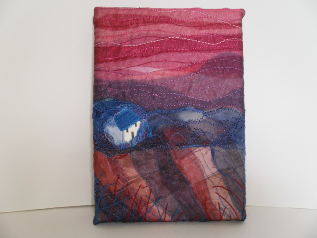 Blue Grass Cottage Textile Art