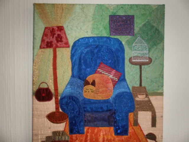Comfy Chair Textile Art