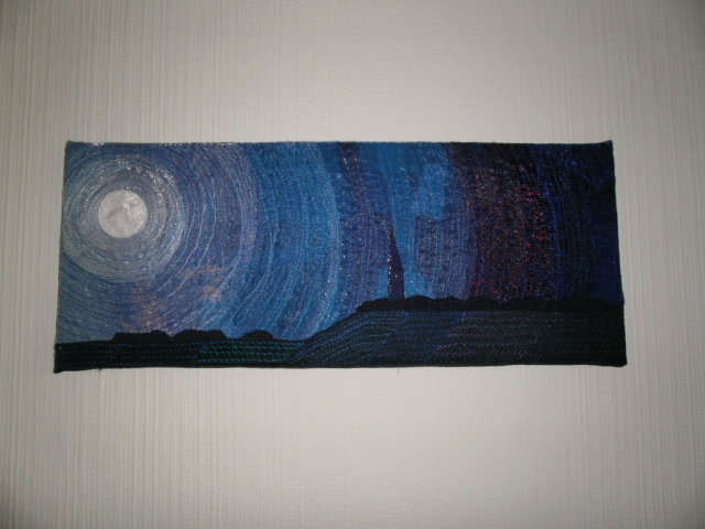 Moonlit Night Textile Art