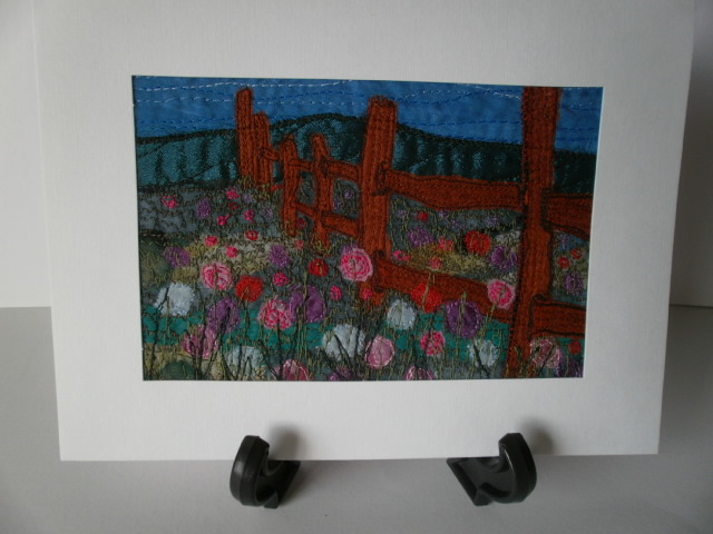 The Old Fence Textile Art