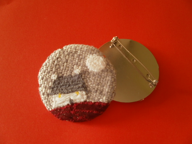 Wee Cottage Textile Brooch