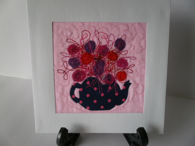 Spotty Teapot Textile Art