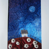 Shepherdess Cottage Textile Art