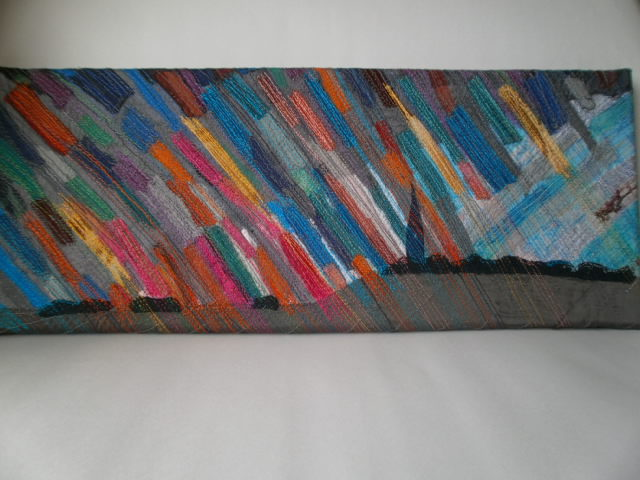 Stained Glass Sky Textile Art