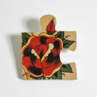 tatoo jigsaw brooch