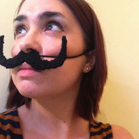 Knitted Black Dali Moustache