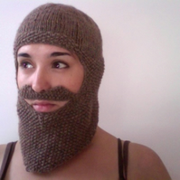 Knitted Beard Balaclava - RESERVED FOR YARDGALLERY