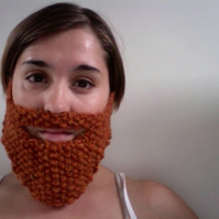Knitted Ginger Beard - RESERVED FOR KATIE MACQUEEN