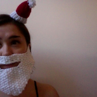 Two White Santa Beards - RESERVED FOR LOUISA DARLING