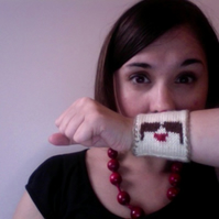 Knitted Moustache Cuff - Reserved for Kate Lloyd