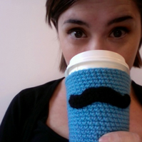 Crochet Moustache Cup Cozy