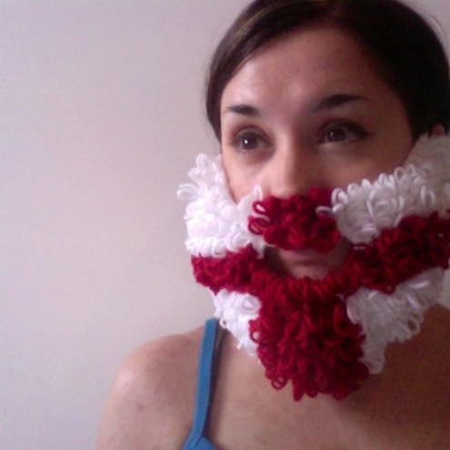Knitted Loopy England Beard