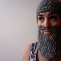 Knitted Beard Balaclava - RESERVED FOR BEN TUTTON
