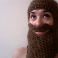 Knitted Beard Balaclava - RESERVED FOR ANGHARAD DAVIES