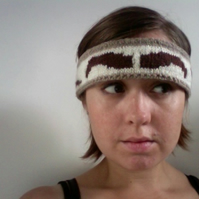 Knitted Eyebrow Headband