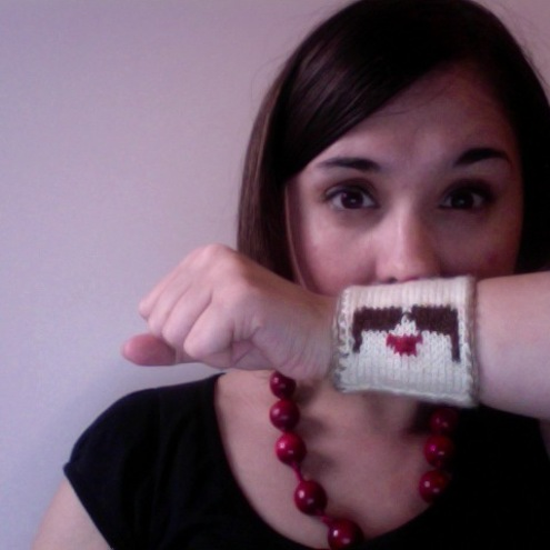 Knitted Moustache Cuff