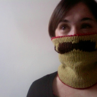 Knitted Moustache Cowl