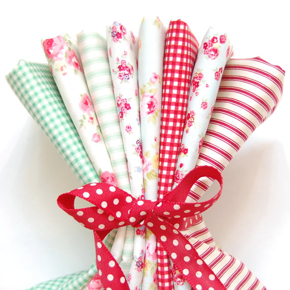 Rose & Hubble cotton poplin FQ bundle Christmas x 8
