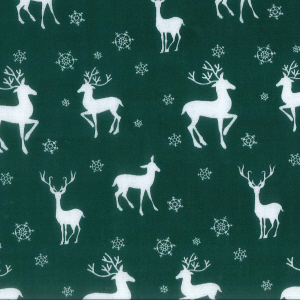 Scandi Nordic Christmas Reindeer in green half metre