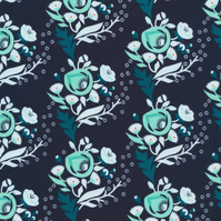 poppy in turquoise by aneela hoey for cloud9 FQ