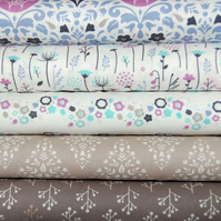 ethereal grey by camelot fabrics x 5 FQ