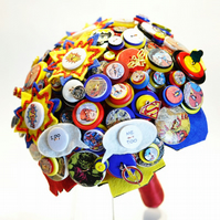 Comic Book Themed bouquet or Superhero Button Bouquet