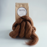 Brown merino wool 'Truffle' for needle felting and wet felting