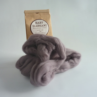 Grey merino wool, 'Baby Elephant'  for needle felting and wet felting