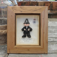 PERSONALISED POLICE Retirement, Promotion, Birthday Framed Gift, Polymer Clay