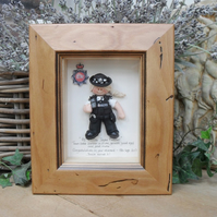 PERSONALISED POLICE Female Retirement, Promotion, Birthday Gift, Polymer Clay