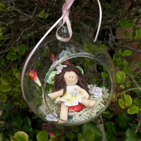 FAIRY BAUBLE, Terrarium, Hanging Decoration, Child's Room, Gift