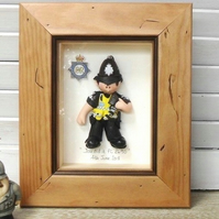Personalised Police Gift, MALE, Retirement, Promotion, Birthday, Framed