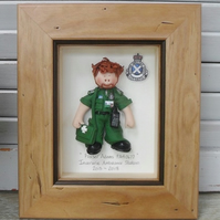 PERSONALISED PARAMEDIC GIFT, Male Polymer Clay Framed Gift, Retirement,Promotion