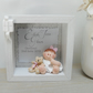 Personalised Christening Gift Box Plaque, Baptism Keepsake