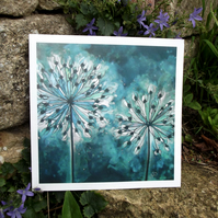 'Alliums' Fine Art Print from Original by Rosie Lomberg