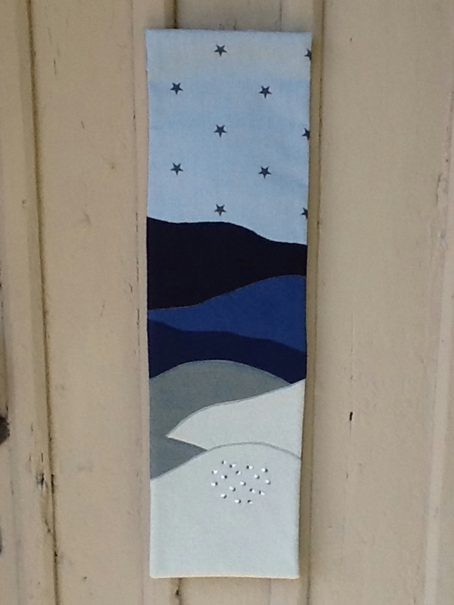 Textile Wall Hanging Picture with Sheep and Stars