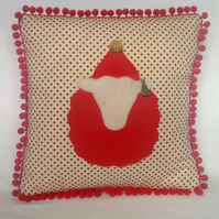 Christmas Sheep Cushion - Free Delivery