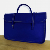 Royal Blue Felt Music Case Folder