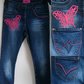 Butterfly Crochet embellished Skinny Jeans UK 8
