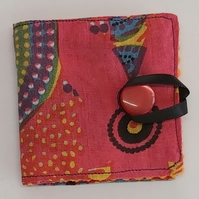 Pink & Orange cotton Sewing Needle Book