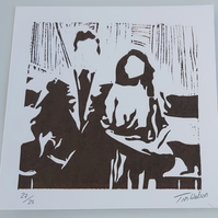 People, limited edition screen print