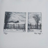 Winter landscape, limited edition print