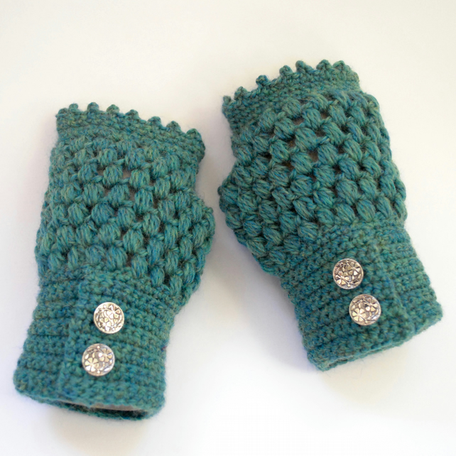 Fingerless Gloves - Peruvian Wool