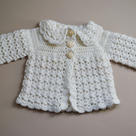 Newborn White Cardigan