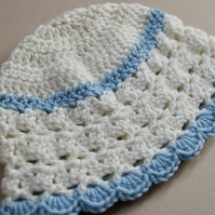 Newborn Blue & White Hat