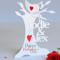 Personalised 3D Paper Cut Valentine Card for a Wife,Husband, Girlfriend etc