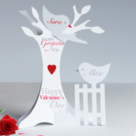 Personalised 3D Paper Cut Valentine Card for a Husband,Wife,Girlfriend etc