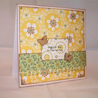 May your day be filled with joy - handmade card
