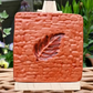 Autumnal Terracotta Clay Leaf Hanging Decor, Handmade, Wall Decor, Natural