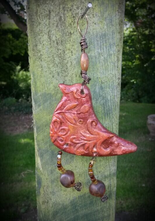 Bird Decoration, rustic, wall art, wall hanging, gift, hippie, woodland, boho.